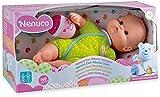 Famosa 700012087 -  Bambola con Biberon e Vestito Verde, Assortita