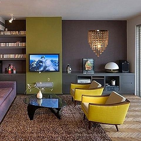 AnntTM nouvelle Finition chromée moderne contemporain Cristal-Plafonnier applique murale 1 lumière en forme de Chandelier