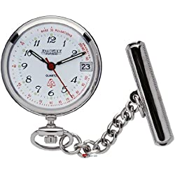 Classic Nurses Fob Watch Standard Numerals - Chrome Plated