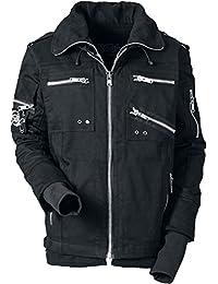 Vixxsin Mason Jacket Mens New Black Casual Men Goth Gothic Emo Punk Zip