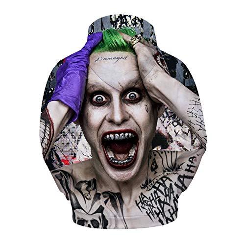 WANLN Halloween-Horror-Thema Crazy Clown Angst 3D Stereo Männer und Frauen Kapuzenpullover Langarm Warm (Bruder Und Schwester Themen Kostüm)