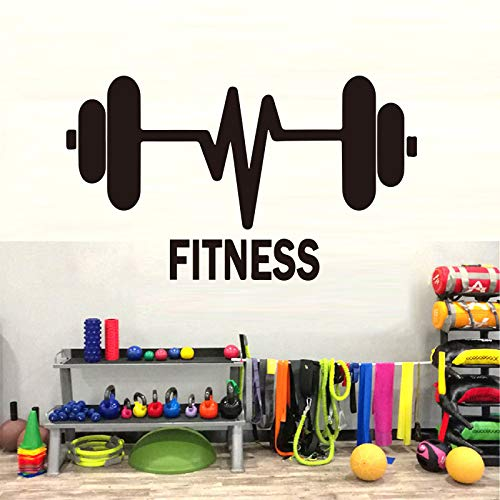 BFMBCH Gesundheit Und Fitness Wandaufkleber Gym Dekoration Abnehmbare Dekorative Wandtattoos Mode Kreative Wasserdichte Wandaufkleber Pflaume L 73 cm X 43 cm