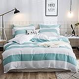 Merryfeel 100% Baumwolle Garn gefärbt Bettwäsche-Set - 200x220+2x80x80cm