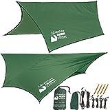 Adventure Gear Outfitter Amaca pioggia mosca tenda telone nailon di Ripstop forte - include tutto di quello che Lei ha bisogno su per set facile.