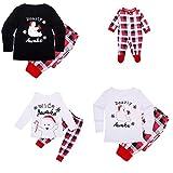 Kenebo Weihnachts Familie Pyjamas Set Passend Eisbären Plaid Weihnachts Familie Schlafanzüge Kind-120cm