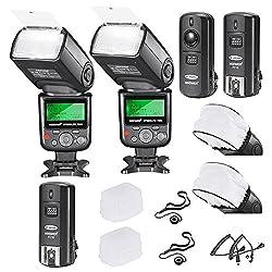 Neewer VK750II Pro i-TTL Blitz-Set für Nikon DSLR D7100 D7000 D5300 D5200 D5100 D5000 D3200 D3100 D3300 D90 D800 D700 D300 D300S D610 D600 D4 D3S D3X D3 D200 N90S Kabel F5 F6 F90 F90X D4S D SLR Kamera + 2 Neewer VK750)