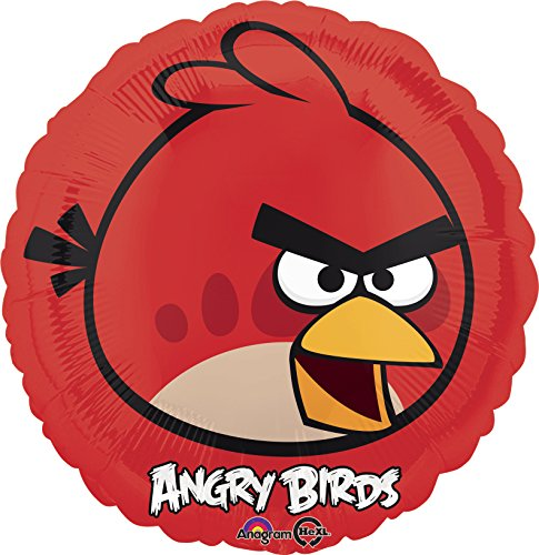 NEU Folienballon Angry Birds Red Bird, 45 cm (Red Bird Kostüme)