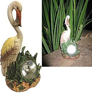 Led solar powered heron garden light ideal pond patio for Garden pond ornaments uk