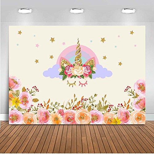 tergrund 7x5 Baumwolle Polyester Kinder Geburtstag Fotografie Hintergrund Ölgemälde Kulissen für Baby-Dusche ()