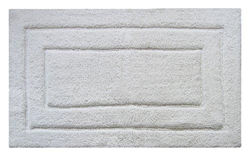 Chardin home Classic Bad Teppich, großer 68,6x 114,3cm Tan, 100% Reine Baumwolle, super weich, Plüsch & saugfähig mit Latex Spray, rutschhemmenden Unterseite, weiß, Einheitsgröße -