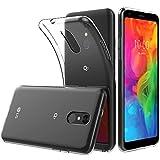 Peakally LG Q7 / Q7 Plus / Q7α Hülle, Soft Silikon Dünn Transparent Hüllen [Kratzfest] [Anti Slip] Durchsichtige TPU Schutzhülle Case Weiche Handyhülle für LG Q7 / Q7 Plus / Q7α 5.5