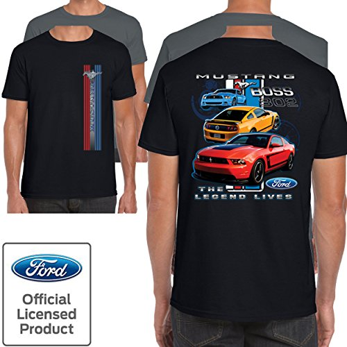 Mens Ford Mustang T Shirt Boss 302 Classic Vintage American Shelby V8 Muscle Car