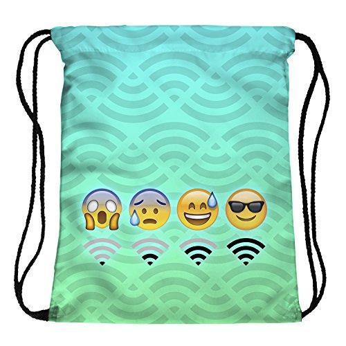 Imagen de fringoo   de cuerdas para niños, niñas y adolescente , color emoji wifi mint, tamaño h40 x l33 cm, volumen liters 4