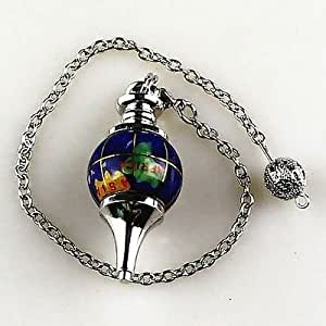 Pendulum globe 40mm gemstone ball pendulum chakra pendant for Pendulum light globes