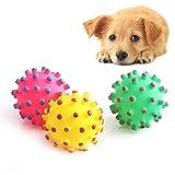 angju caoutchouc souple Boule jouet pour animaux domestiques–Chien Interactive Boule Kick et balle Cat dentaire de formation avec couineur son