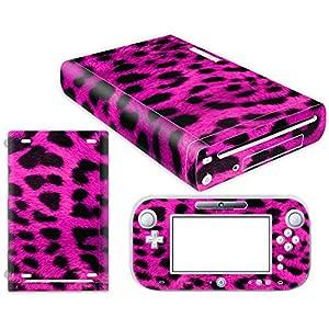 Nintendo Wii U Skin Design Foils Aufkleber Schutzfolie Set – Pink Leopard Motiv