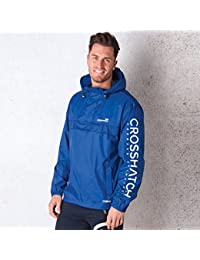 Crosshatch Mens Rufuaro Lightweight Packable Jacket Blue - with Small Carry Bag