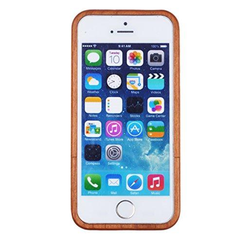 Voguecase® Apple iPhone 5 / 5S Bambus Harte Hybrid Hülle Schutzhülle Case Cover (Löwenzahn) + Gratis Universal Eingabestift Kamera