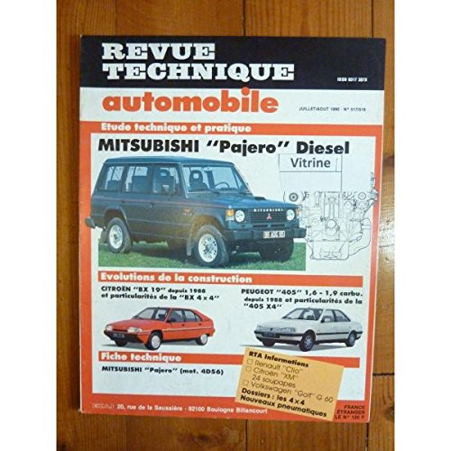 Revue technique automobile, RTA 0517 / 0518 du Juillet/Août 1990 :  Mitsubishi Pajero Diesel
