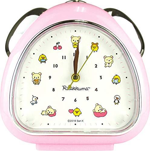 San-X Rilakkuma RK-5520151PK Uhr mit Zwei Glocken, Onigiri/Pink