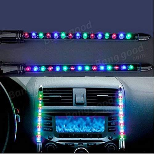 HECTAREBUY 2Pcs Neon 15 Led Car Music Rhythm Light Interior Lighting Instrument Lighting