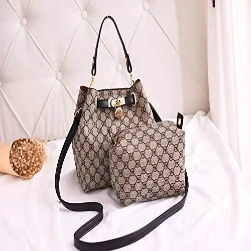 LFGCL Taschen womenOld Blumen Brief Handtasche Mode Größe Brötchen Mutter Tasche, schwarz