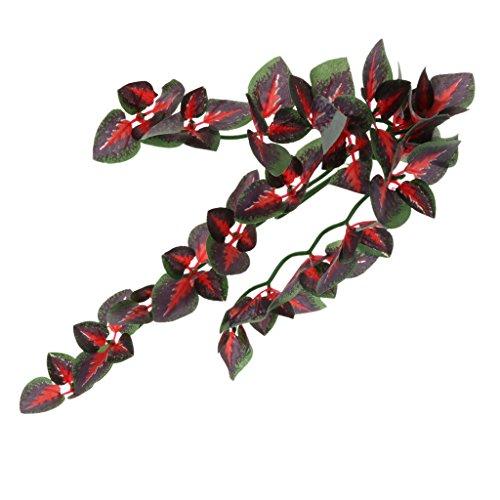 non-brand MagiDeal Terrarium Pflanzen Künstlich Hängepflanze Kunststoffpflanze - Typ 1, 30 cm