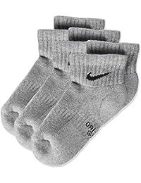 Nike Nike Performance Cushioned Quarter, 3 Pares de calcetines infantil, Gris (Dark Grey