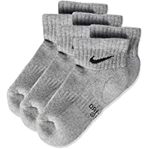 Nike Nike Performance Cushioned Quarter, 3 Pares de calcetines infantil, Gris (Dark Grey