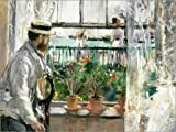 Póster 40 x 30 cm: Manet on The Isle of Wight de Berthe Morisot - impresión artística póster artístico
