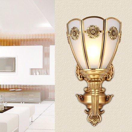 Cach-Stil Wand Lampe Moderne minimalistische Lampen Wandleuchte in Kupfer Diametro di parete cappa altezza 15 * 31 * da 27cm