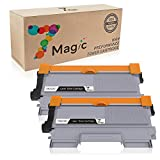 TN2220, 7Magic Compatibile Brother TN2220 TN2210 TN2010 Cartuccia del Toner (2 Nero) ad Alta Capacità Sostituzione per Brother MFC-7360N MFC-7360 MFC-7460DN DCP-7057 DCP-7055 DCP-7055W HL-2130 HL-2240 HL-2240D FAX-2840 Stampante
