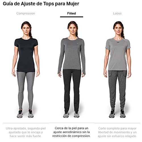 Under Armour Damen Ua Hg Armour Ss Fitness-T-Shirts & Tanks Water
