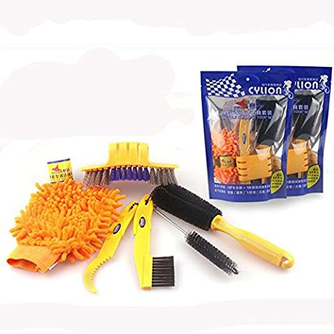 West Biking Bicycle Chain Cleaner Mountain Cycling Bike Clean Machine Brushes Scrubber Wash Cleaning 1 Set of 6 Unique