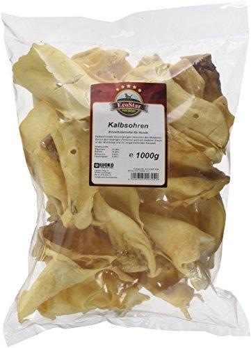 EcoStar Perros Snack ternero Orejas 1kg, 1er Pack (1x 1kg)