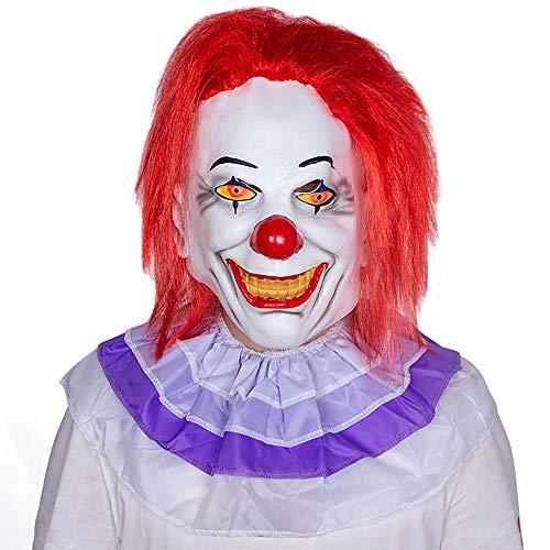 Neue Halloween Maske Film Zurück Seele Clown Maske Horror Latex Kopfbedeckungen Unisex 1 Stücke Stücke Erwachsene Geschenk,Red,Onesize