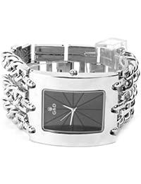 YESURPRISE 044473–Armbanduhr Damen, Armband aus Edelstahl Farbe Silber