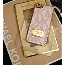 Funda Michael Kors para iPhone 5/5s, Blanco, dorado y rosa