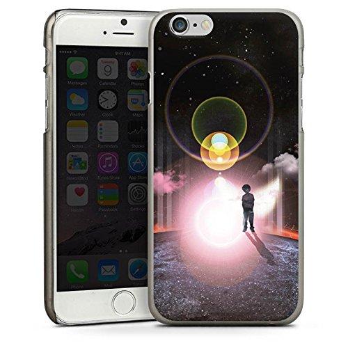 Apple iPhone 5s Housse Étui Protection Coque Galaxie Galaxie Nuages CasDur anthracite clair