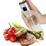 Öl Sprüher Pump, Bidear Glas Öl Essig Spender Flasche Küche Werkzeug für Pasta, Salate, Grills und Barbecue (100 ml) -