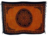 Guru-Shop Sarong, Wandbehang, Wickelrock, Sarongkleid Celtic, Herren/Damen, Orange, Synthetisch, Size:One Size, 160x100 cm, Sarongs, Strandtücher Alternative Bekleidung