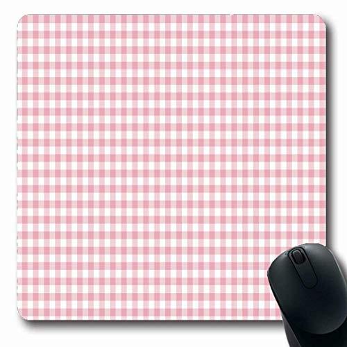 Luancrop Mousepads für Computer Servietten Check Pink Gingham Pattern Abstrakte Form Karierte Farbe Farbige Digital Geometric Design rutschfeste Oblong Gaming Mouse Pad Gingham Checks, Serviette