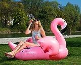 FLAMINGO - riesige aufblasbare Schwimminsel, Flamingo aufblasbar, Schwimmtier, ***MUNICHSTANDARD***, Pool Luftmatratze, Floß, PVC, schwimmen, aufblasbares Schwebebett, Insel für 2 Personen, Pool