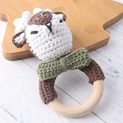 let's make Jouets Bébé en Bois Naturel Anneau de de de Dentition éléphant en Crochet de Coton Hochet de Dentition pour Cadeau de Naissance | 2019  f50cd3