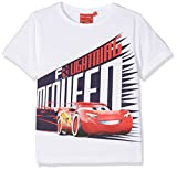 Disney Jungen T-Shirt Cars Speed, Weiß Optic White, 6 Jahre