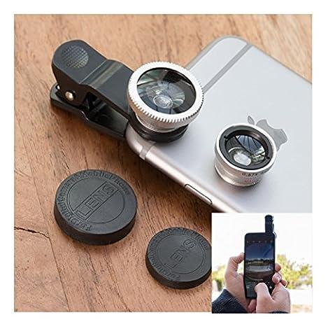 Objektiv Set für Handys und Tablets passend für jedes Handy oder Tablet perfekt für Vlogger Fisheye und (Jedes Set)