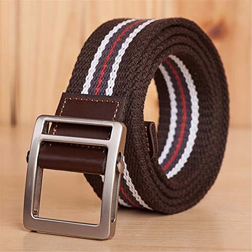 ANSODT - Cinturón de Tela con Hebilla Suave, Estilo Informal, Transpirable, Talla S, 120 cm