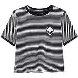 Fortan 3d Extranjeros de impresión superiores surgen camiseta de manga corta de las mujeres Tops