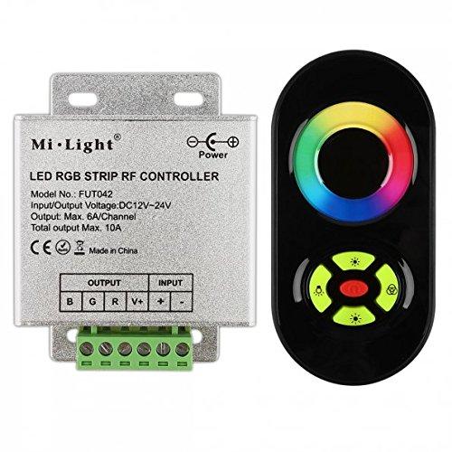 fut de 042433M LED IR/RF controlador led rgb Strip con función de mando a distancia Touch 12V * Negro *