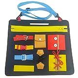 Tablas de Vestir Tablero Fieltro Montessori Aprenda a Vestir Juguetes educativos: Cremallera, Botón, Hebilla, Encaje, Aprendizaje temprano Habilidades básicas